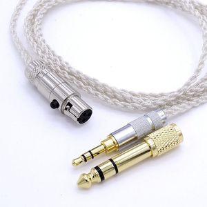 Image 3 - AKG K272 K242 K702 Q701 1.2 metre yumuşak OCC gümüş kaplama kulaklık yükseltme kablosu kulaklık kablosu