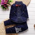 Children 's clothing 2017 Spring and Autumn new children' s 100% cotton long - sleeved shirt + trousers baby boy clothes