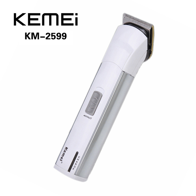 KEMEI KM-2599 Cortadora de Cabello Eléctrica Clipper Trimmer razor máquina de Afeitar Recargable Sin Cuerda Ajustable con Límite de Peine Ajustador