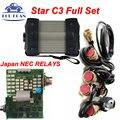 Качество A + + ЗВЕЗДЫ C3 MB С NEC Реле MB Диагностический Инструмент Звезда C3 Мультиплексор Тестер Звезды C3 MB Полный Набор Со Всеми Сильная Кабели