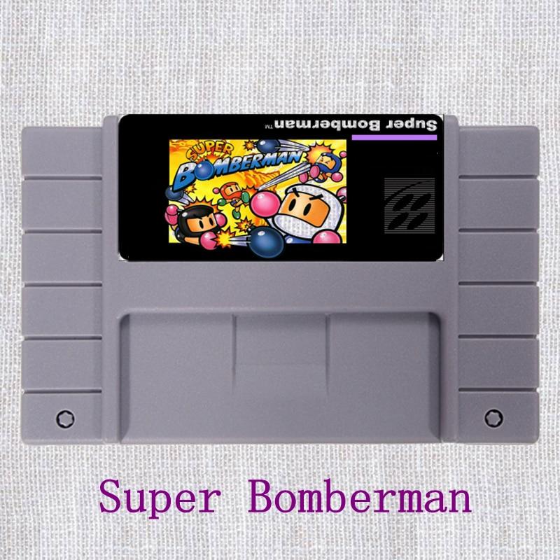 Super Bomberman 16 Bit NTSC Big Gray Game Card For USA Version Game Player