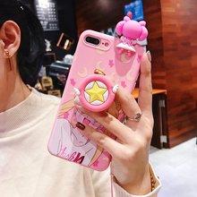 Cute Sailor Moon Pink font b Phone b font Case For Xiaomi Redmi 6 6A 5A