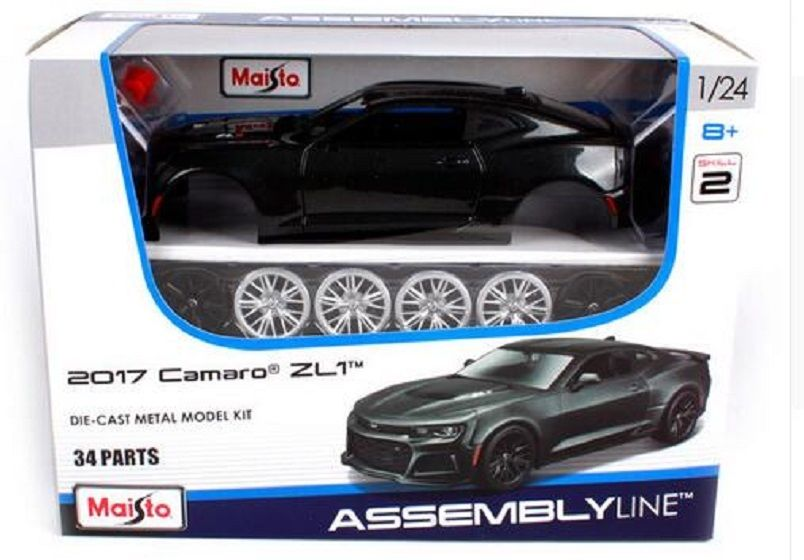 Maisto 1:24 2017 Chevrolet Camaro ZL1 Assembly DIY Racing Car Diecast MODEL KITS NEW IN BOX