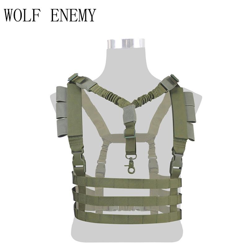 Gilet Tactique militaire Airsoft Molle Système Profil Bas Poitrine Plate-Forme Amovible D'arme à feu de Chasse Airsoft Paintball Équipement