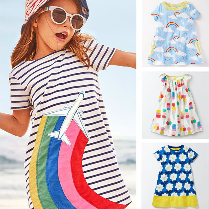 New 2018 Baby Girls Dresses Summer Children Clothing Kids Clothes Brand Quality 100% Cotton Girls Casual Dress Baby Girl Clothes summer baby girl printed pattern straps dresses toddler girls baby clothing sleeveless baby dress kids casual clothes yp