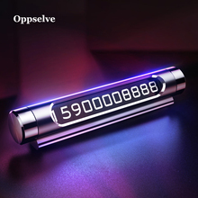 hot deal buy oppselve car temporary parking card phone holder luminous phone number plate auto sticker drawer style car-styling rocker switch