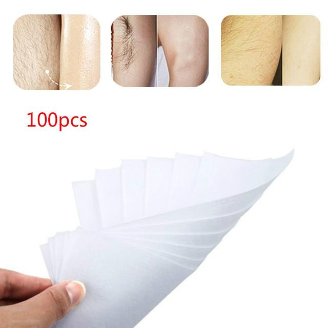 ELECOOL 100 pcs Olmayan dokuma Kalın Vücut Epilasyon Tüy Dökücü Balmumu Şeritler Dayanıklı Tüyleri Alma Kağıt Kadın Güzellik Cilt Aracı TSLM2