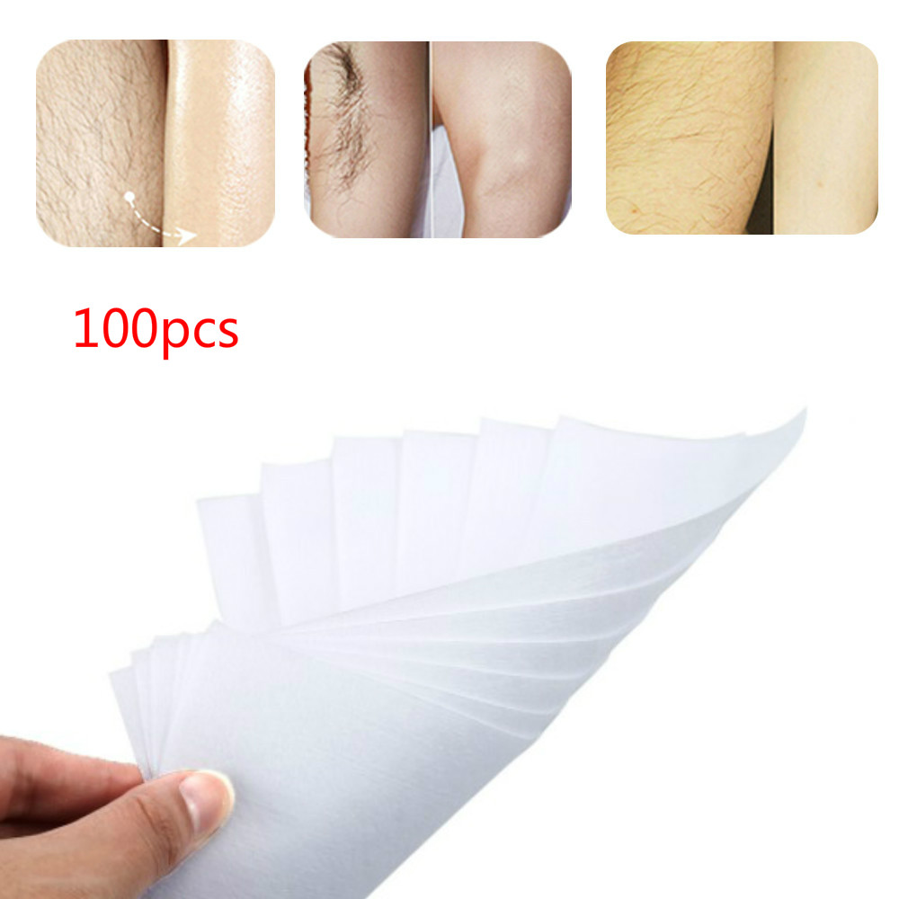 ELECOOL 100pcs Non-woven Thick Body Hair Removal Depilatory Wax Strips Durable Depilating Paper Women Beauty Skin Tool TSLM2