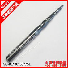 R1.0*30*6D*75L*2F Taper Bits For Cutting Wood/ Metal With High Effect And Good Quality/Taper Ball Nose Cutter