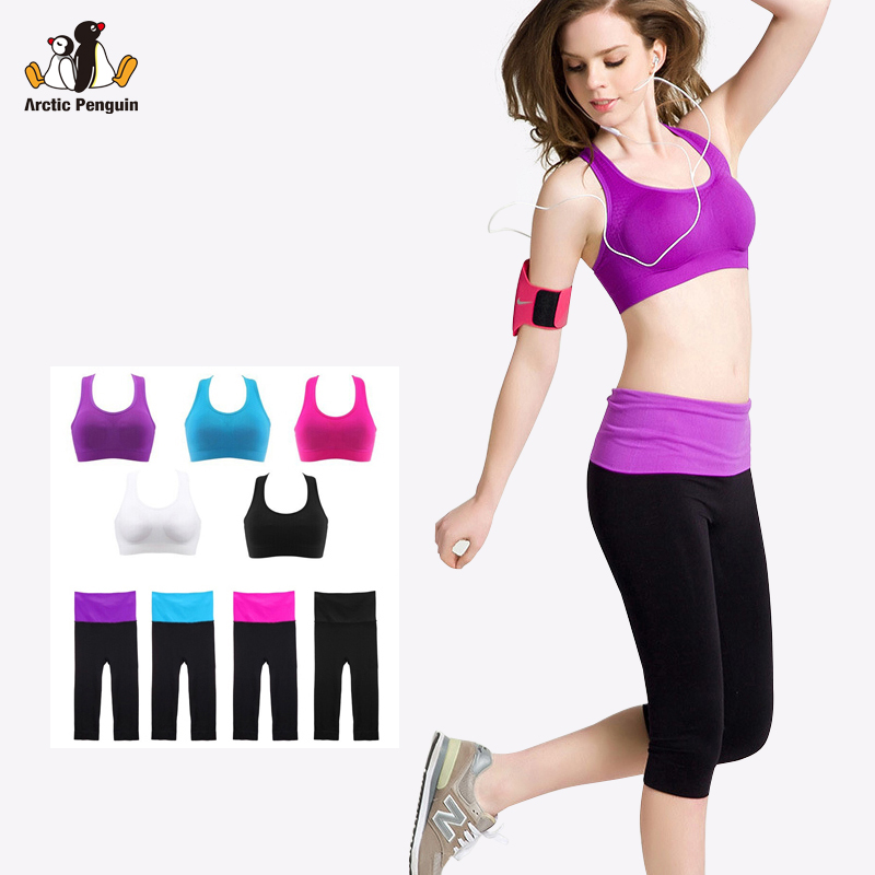 [AP]New Arrival Absorb Sweat Quick Drying Professional Sports Bra And Leggings Set, Fitness Gym Tanks Running Leggings for Women