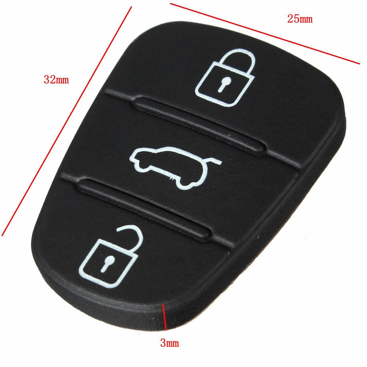 2x フリップ折りたたみリモート車のキーシェルゴムキーボタンパッドヒュンダイの Solaris アクセントツーソン l10 l20 l30/ 起亜リオ Ceed