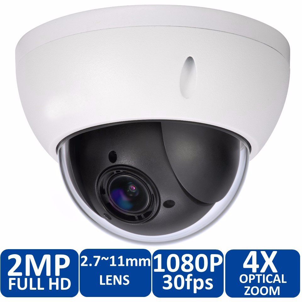 DH-SD22204T-GN CCTV IP camera 2 Megapixel Full HD Network Mini PTZ Dome 4x optical zoom POE Camera SD22204T-GN original dahua 1080p mini ptz ip camera dh sd22204t gn 4x zoom hd network speed dome camera onvif sd22204t gn with power supply