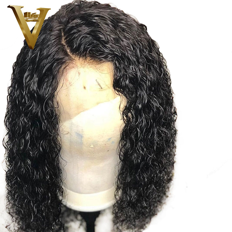 Curly Full Lace Human Hair Wigs With Baby Hair Pre Plucked Hairline Lace Front Human Hair