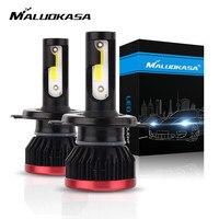 Мини светодиодный лампы для автомобилей H4 H7 H11 9005 9006 г. р. Чип ламп Противотуманные фары автомобиля 20000LM 6500 K день ночные огни