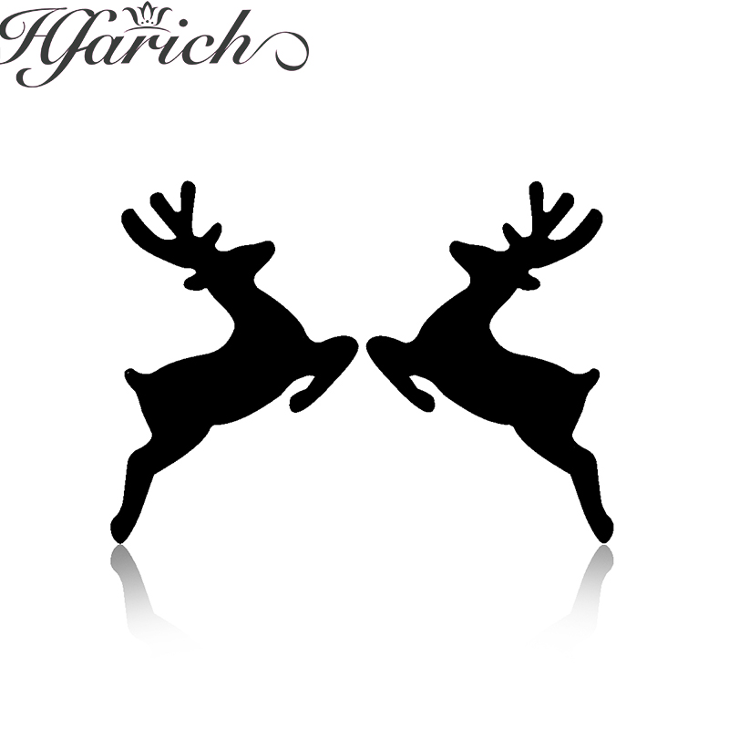 Hfarich Trendy Attractive Deer Earrings Sweet Beauty Animal Stainless Steel Earrings Girls earrings boucle d'oreille party gifts image