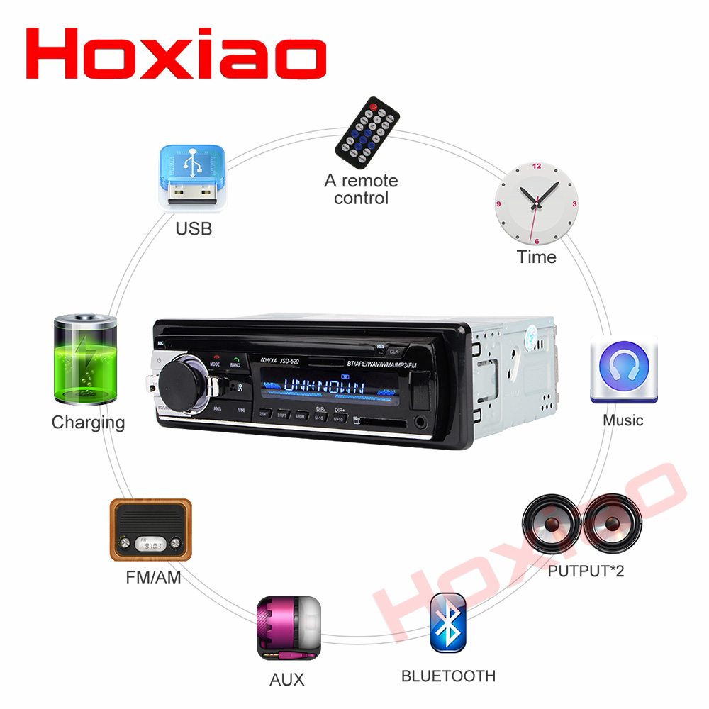 Image 4 - Bluetooth Autoradio 12V Car Stereo Radio FM Aux IN Input Receiver SD USB In dash 1 din Car MP3 Multimedia Player-in Car Radios from Automobiles & Motorcycles