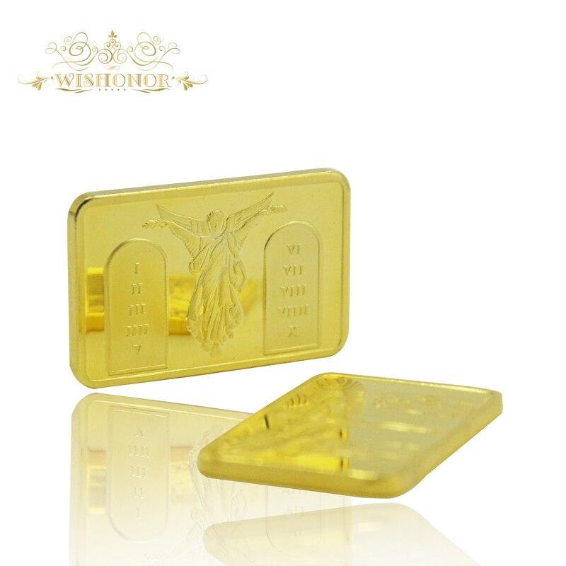Propagační produkty pro Zlatý prut Bar kříž Ježíš Kristus na kříži OZ 24k Pozlacený bar Angel