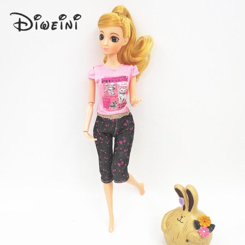 cool moda hecha a mano diario arropa los juegos de barbie doll clothes traje de blusa beb