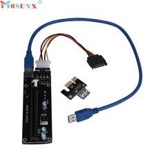Ecosin2 Удлинительный кабель pci-e express работает Riser Card w/USB 3.0 удлинитель 1x к 16x monero Прямая доставка 17mar22
