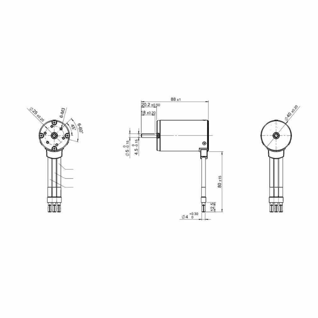 4068, 4074, 4092, 3T KV1180 5mm Sensorless sin escobillas Motor para RC coche de Control remoto modelo de espaã a componente RC ACC
