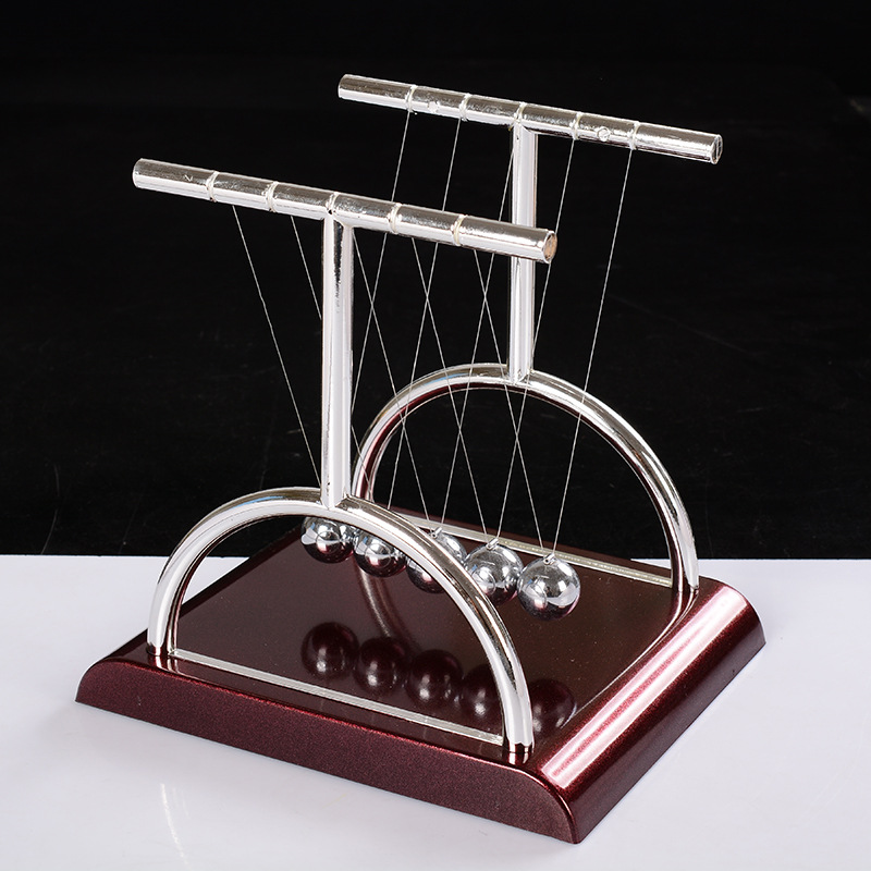 Ilmu Fisika Pendulum Balance Ball Tabrakan Eksperimen Newton Cradle Billiard Bola Desktop Decor Craft Furnishing Artikel