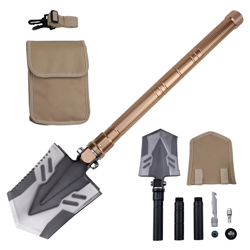 Camping Military Folding Shovel Pickax Entrenching Tool Spade Gardening Garden Snow Mud Digger Car Emergency Multi Tool