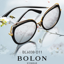 BOLON Cat Eye Dark Sunglasses Women, Embellished Color Sun Shades Polarized UV40