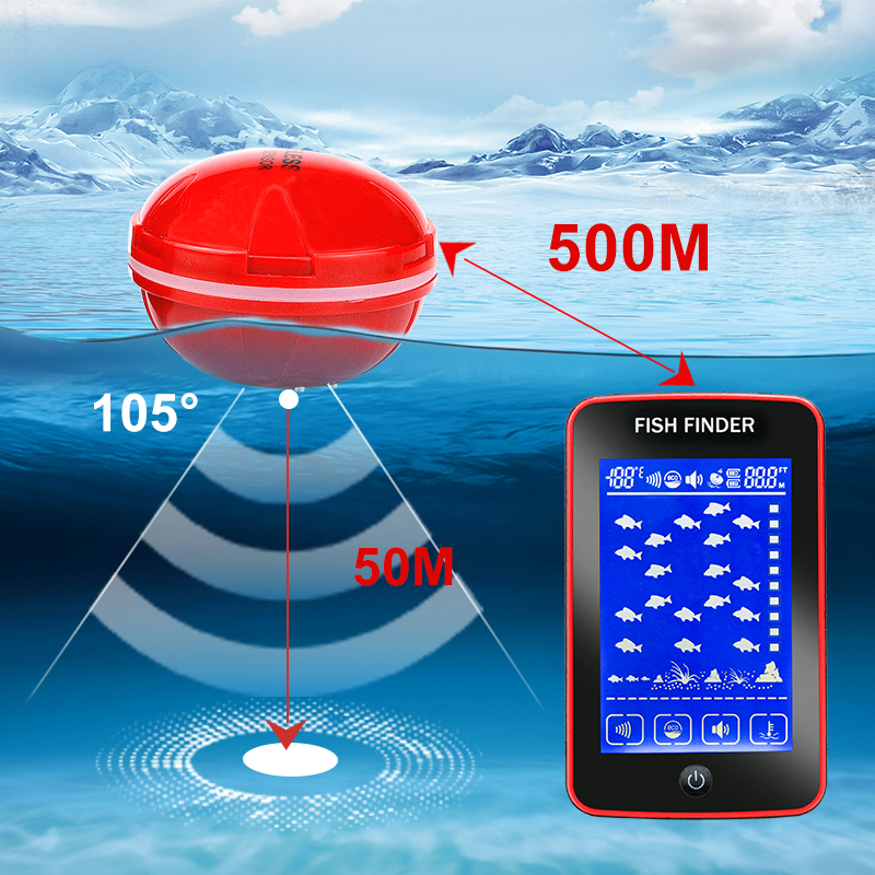 Erchang Touch Fish finder wireless Fish Alarm Portable Sonar Fishing lure Echo Sounder in fishing fishfinders portable fish finder bluetooth wireless echo sounder underwater bluetooth sea lake smart hd sonar sensor depth