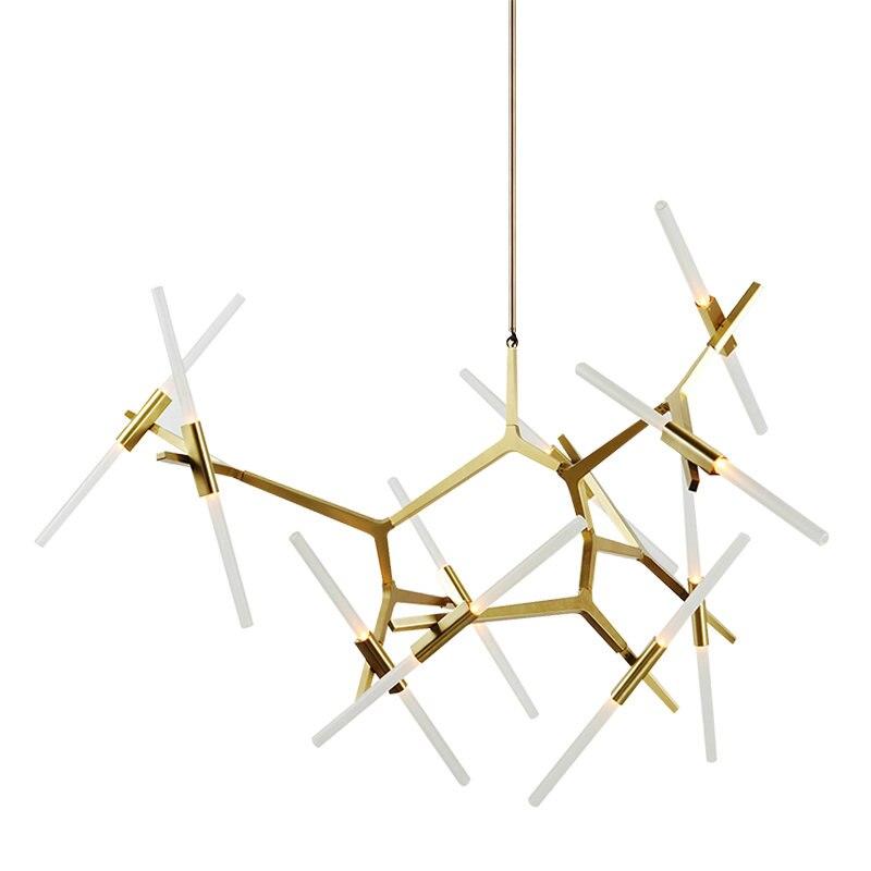 Современные светодио дный светодиодные золотистый и черный подвесные светильники Лофт Nordic люстра освещение лампа для спальня гостиная кух...