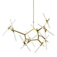 Современные светодио дный светодиодные золотистый и черный подвесные светильники Лофт Nordic люстра освещение лампа для спальня гостиная кух