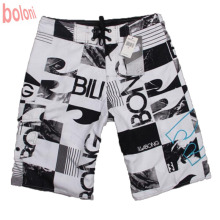 High Quality Mens Shorts Surf Board Shorts Summer Sport Beach Homme Bermuda Short Pants Print Quick Dry Silver Boardshorts