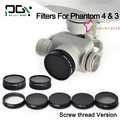 2016 NEW PGY DJI Phantom 4 DJI Phantom 3 Professional Advanced Camera Lens Filter ND4,ND8,ND16,MCUV,CPL,ND2-400, ND8&CPL Filter