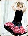 2015 бесплатная доставка Новорожденных девочек атласная пушистый радуга детские pettiskirts туту Балет танец износа