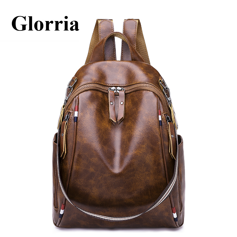 Detail Feedback Questions about Glorria Women Leather Big Backpack School  Bag for Teenger Girls Large Capacity Book Bag Women Anti Theft Backpack  Kanken ... 68e9a6a9b3b8c
