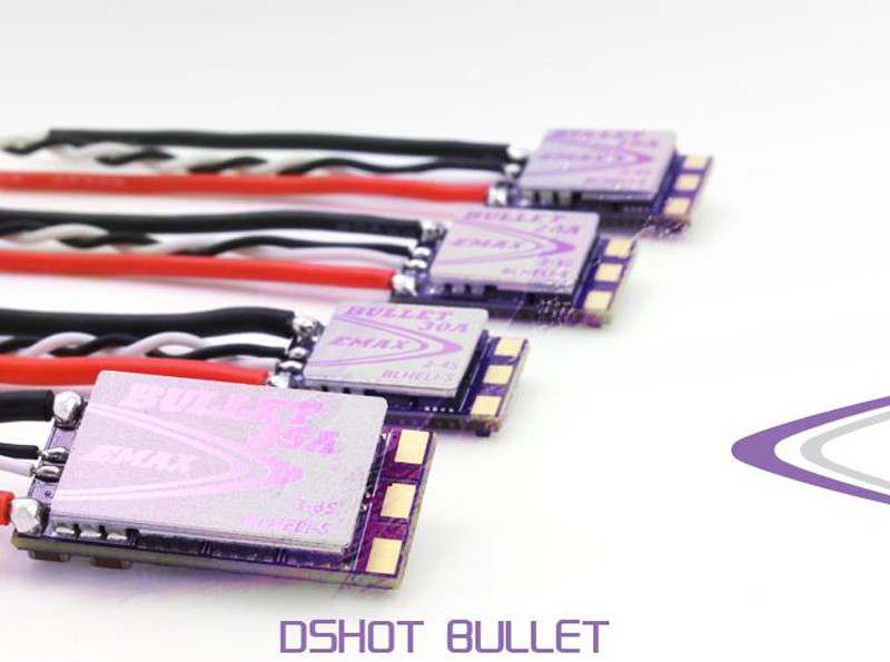 EMAX BLHeli-S DSHOT Bullet FPV ESC 6A 12A 15A 20A 30A 35A Brushless Speed Controller for RC drone 30a esc welding plug brushless electric speed control 4v 16v voltage