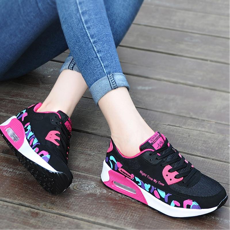 Agsdon Women Flat Shoes Mesh Shoes Casual Ladies Tenis Feminino Shoe Fashion Sneakers Rubber Female Flats Summer Shallow