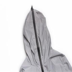 Image 3 - Uplzcoo full reflective jacket men/women harajuku windbreaker jackets hooded hip hop streetwear night shiny zipper coats JA244