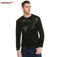 New Arrival Leather Patchwork Hoodies Men Zipper Decoration Male Pullover Casual Sweatshirt Men Hoodie Plus Size 5XL
