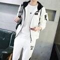 M-3XL Hombres Chándal Marca Otoño Nuevo Deporte de Moda de Los Hombres Con Capucha Para Hombre Con Capucha Casual Para Hombre Con Capucha Del Cabo H851
