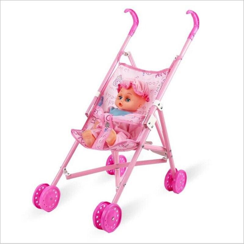 Cadeau pour enfants poupée accessoires chariot jouet poussette bébé fille faire semblant de jouer jouets BabyBorn poupée accessoires poussette & landau jouet