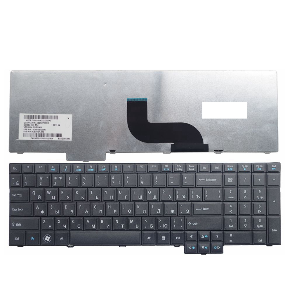 RU Black New FOR ACER TM5760 8573 TM6495T 7750 5760 6595 6495 for TravelMate 5760 5760G 5760Z 5760ZG Laptop Keyboard Russian
