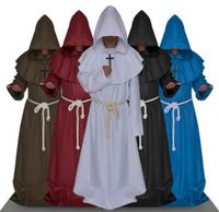 priest robe costume for men hooded witch robe for men chinese monks cosplay costume halloween cosplay