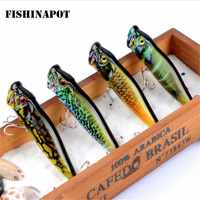 FISHINAPOT 1 pz Marca Dipinta Popper Wobbler di richiamo di Pesca Con Treble Ganci 9.5 cm/12g Crankbait Esche Artificiali poper pesca
