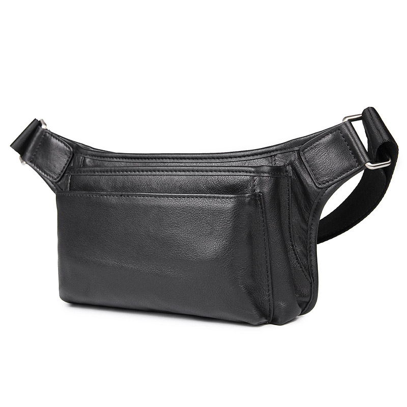 Men Waist Bag Genuine Cow Leather Multi-function Male Funny Pack Designer Classic Style Waist Pack 3016A Men messenger style bags