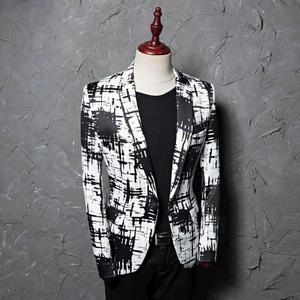 Image 2 - PYJTRL מותג M 5XL גאות גברים דיו סגנון Hit צבע אופנה פנאי חליפת מעיל בלייזר עיצובים Masculino Slim Fit תלבושות Homme