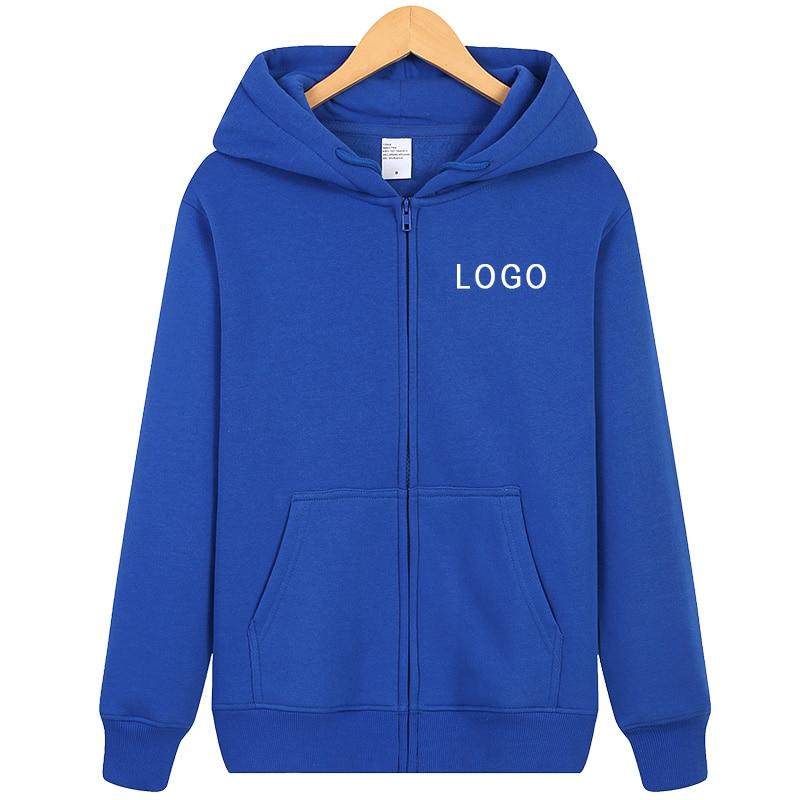 Custom Mens Hoodie Pure Color Zipper Hoodie Zip Hoody Hooded Sports Coat Tops Sweatshirt-Personalise-Funny Gift