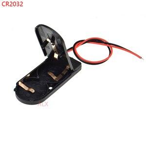 Image 1 - 5 PCS CR2032 Knoopcelbatterij Socket Holder Case Cover Met AAN/UIT Schakelaar 3 V x2 6 V batterij Opbergdoos