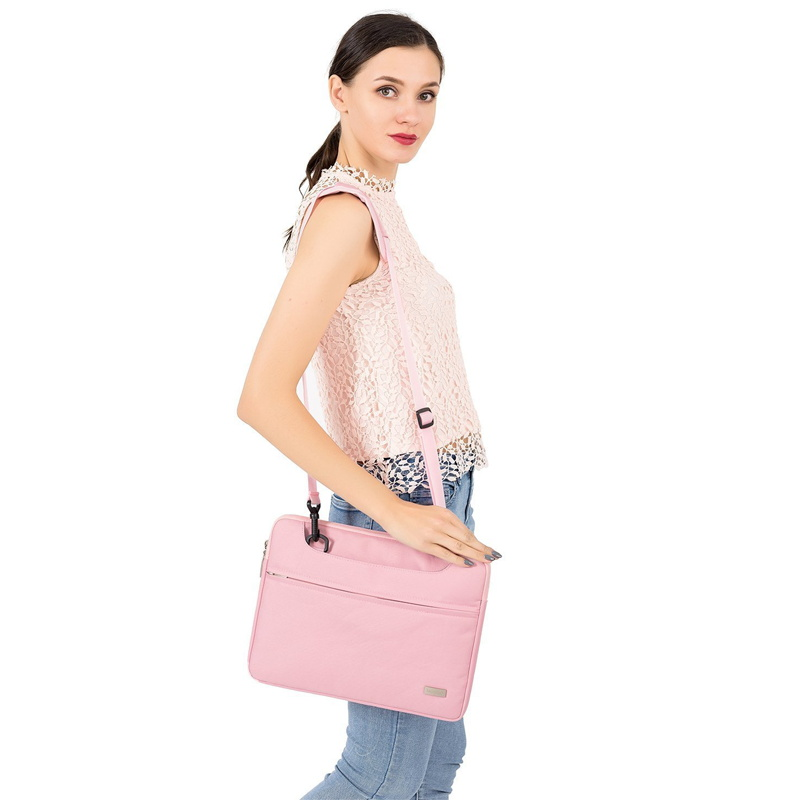 Image 5 - Laptop Bag 14 15.6 inch Waterproof Notebook Bag for Macbook Air Pro 13.3 15.4 Laptop Shoulder Bag for Woman Business Bag for Man-in Laptop Bags & Cases from Computer & Office