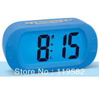 Cheap Silicon Digital LED Light Alarm Table Clocks LED Backlight Desk Clocks Free Shipping