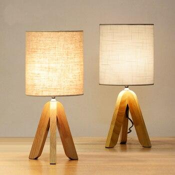 Kreatif Jepang kayu solid lampu meja untuk ruang tamu Dipimpin lampu Tidur lampu samping tempat tidur tabel cahaya cahaya Tafellamp kamar tidur